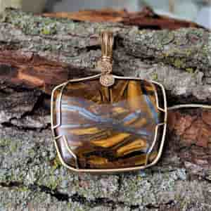 Tiger Iron Gemstone Pendant
